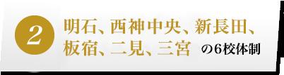 明石、須磨、西神中央、長田、板宿の5校体制
